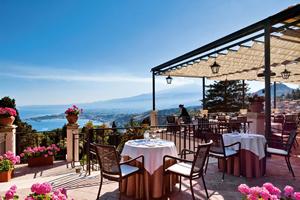 The Restaurant Grand Hotel Timeo Taormina Sicily Italy